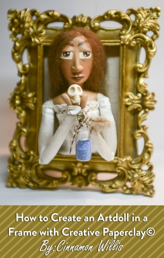 How To Create an Art Doll In a Frame_Pinterest